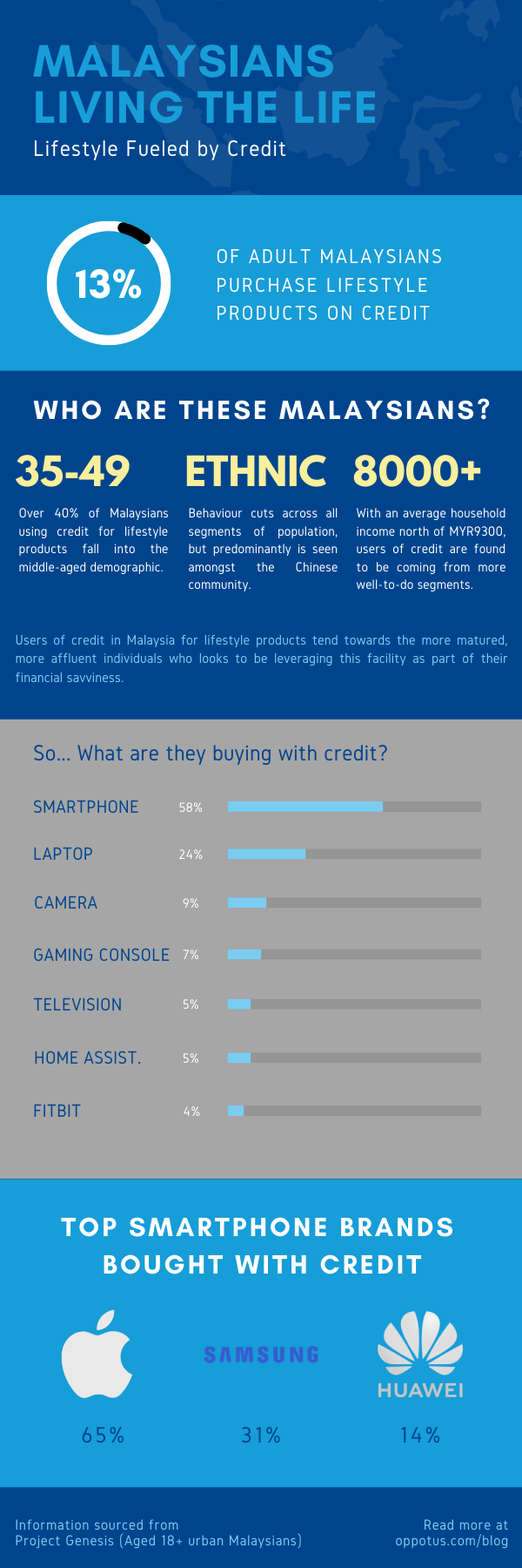 infographic-data on credit usage by Malaysians